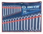 KING TONY Combination Spanner Set 26 Piece