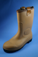 Rubber Rigger Calf Boots Brown 8