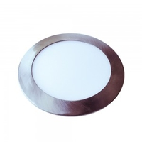 6W LED Slim Panel Satin Nickle