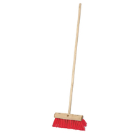Red PVC Scavenger Broom 13''