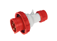 IP67 Quick Assembly Straight Plug 3 Pin + Earth + Neutral 380-415V 63A