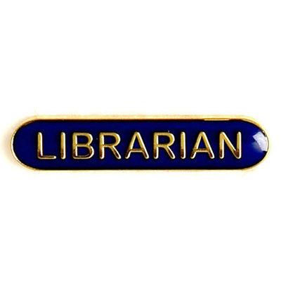 Librarian - Bar Shaped School Badge (Blue)