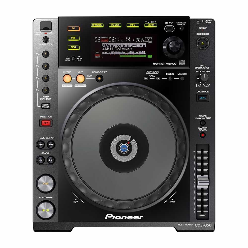 Pioneer DJ CDJ-850-K Digital Multi Player, Black