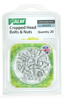 Aluminium Cropped Head Nuts & Bolts (Pack 20) - GH003