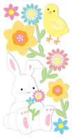 Easter Bunny Large Essential Craft Sticker. (Priced in singles, order in multiples of 6)