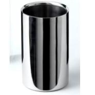 Polished Stainless Steel Wine Cooler 12 Dia x 20cm H