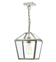 Churchill 1 Light Pendant, Antique Brass | LV1802.0052