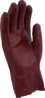 "Red PVC 11"" Open Wrist Gloves (R127)"