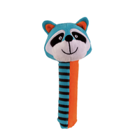 Blue and orange raccoon Squeakaboo toy for babies
