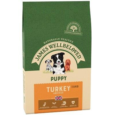 James Wellbeloved Turkey & Rice Puppy Food 7.5kg