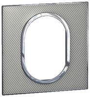 Arteor (British Standard) Plate 3 Module 1 Gang Round Woven Metal | LV0501.2744