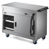 Lincat P6P3 Hot Cupboard Mobile With Plain Top