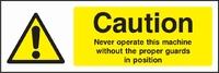 Warning and Machinery Hazard Sign WARN0007-1793