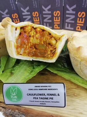 FNK 100% Vegan Pie - Cauliflower, Fennel & Pea Tagine Pie