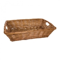 BASKET RECTANGULAR 48X34X12CM BROWN