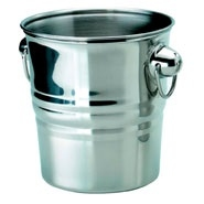 Wine Bucket Stainless Steel 197mm Dia x 203mm High