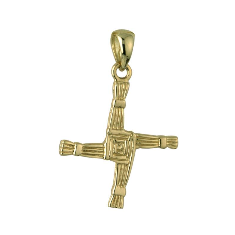 10k gold st brigids cross charm small s8470 from Solvar
