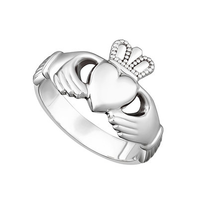 mens sterling silver heavy claddagh ring s2272 from Solvar