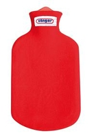 Contour Covered 2 Litre Hot Water Bottle Red