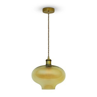 Glass Pendant Light Amber