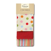 Spots 3 Pack Tea Towel