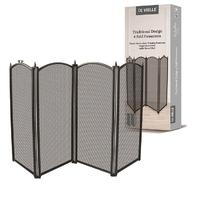 4 Fold Firescreen Black 53x30''
