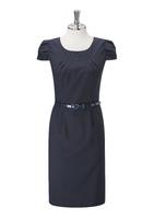 Navy Jolie Ladies Round Neck Dress