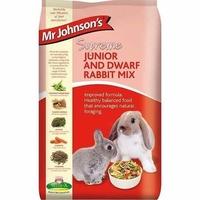 Mr Johnson's Supreme Junior & Dwarf Rabbit Mix 900g x 6 [Zero VAT]
