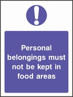Food Processing and Hygiene Sign FOOD0008-0597