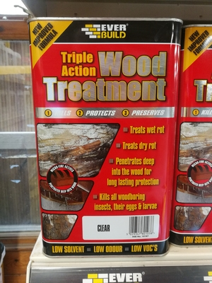 TRIPLE ACTION WOOD TREATMENT CLEAR 5LTR