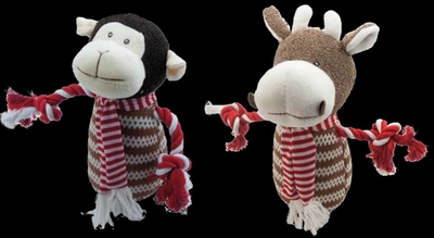 Christmas Monkey & Cow Toy x 4