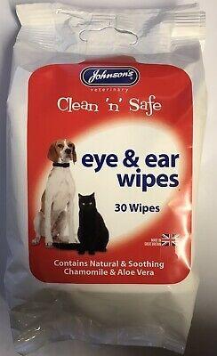 Johnson's Clean 'n' Safe Eye & Ear Wipes 30 Wipe Sachet x 1