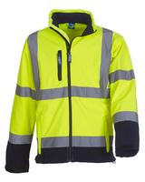 Yoko HVK09 Hi-Vis Softshell Jacket Yellow