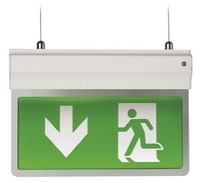 EAGLE 2.5 WATT LED 3-IN-1 LED EXIT SIGN COMES WITH LEGEND IP20 3 YEAR WARRANTY WHITE