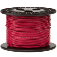 Electronic Wire Tinned Copper 1000Meters Spool Red