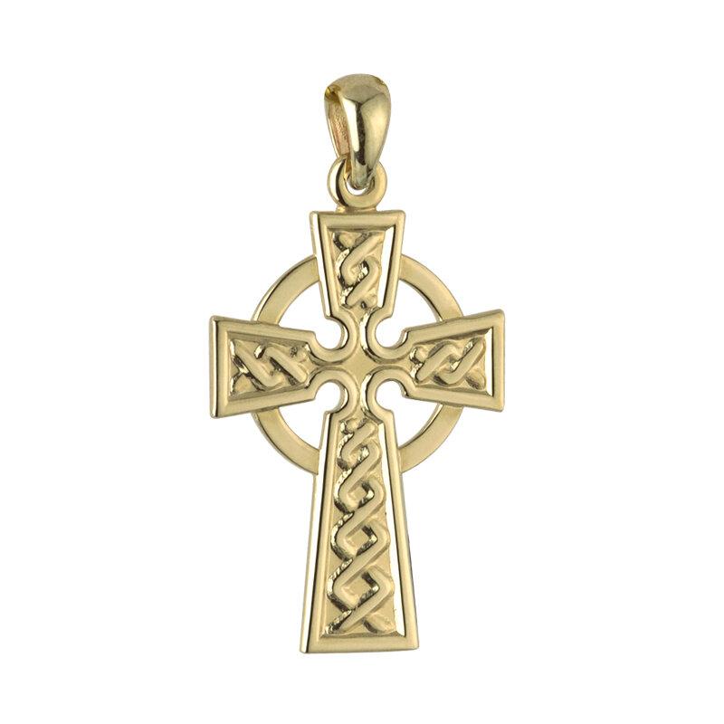 14k gold celtic cross charm large s8308 from Solvar