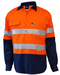 Techni Vision Hi Vis Day/Night Long Sleeve Vented Lightweight Cotton Shirt 160gsm