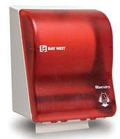 BAY WEST WAVE N DRY DISPENSER RED