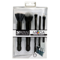 Royal And Langnickel Moda Perfect Mineral 6pc Set Black