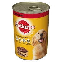 Pedigree Cans Adult - Beef in Gravy 400g x 12pk