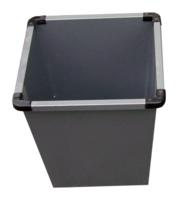 Small Grey Metal Bin