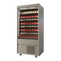 Money Maker Refrigerated Slim Multi Deck with Roller Shutter 3 Shelf and Heavy Duty Castors 1500x635(+50)x1765mm