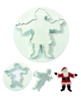 EMBOSSED SANTA SET OF 2