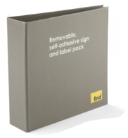 Re-usable Self-Adhesive Signs & Label Collection