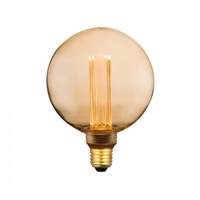 4w G125 LED Art Filament E27 1800K Amber Glass