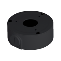 IC Realtime Black - Round Junction Base For Domes and Bullets