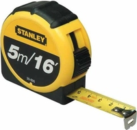 STANLEY 5M/16 MEASURING POCKET  TAPE