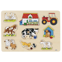 Wooden Peg Puzzle - My Farm