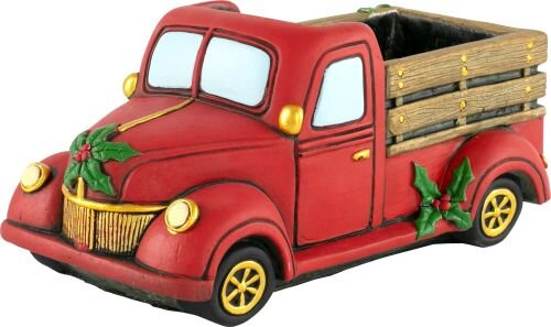Cement Planter Christmas Pick Up Truck