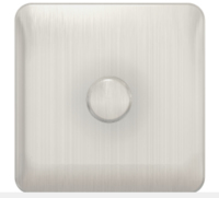 LISSE 1 GANG 2 WAY DIMMER SWITCH 400 WATT STAINLESS STEEL